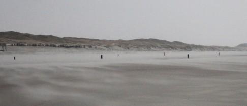 Ein Februartag am Strand von Norderney